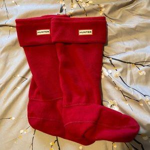 Red Hunter Fleece Socks